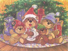 images of suyz,s zoo Whimsical Christmas, Christmas Art, Winter Christmas, Vintage Christmas, Christmas Paintings, Christmas Stuff, Beautiful Christmas, Christmas Ideas, Christmas Clipart