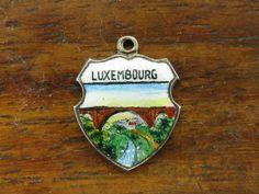 Vintage Silver Germany Luxembourg Luxemburg City Travel Shield Souvenir Charm | eBay