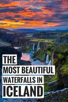 A travel guide with the 15 most beautiful waterfalls in Iceland. Looking for inspiration for your Iceland itinerary? This blog has tons of Iceland photography inspiration and detailed descriptions on how to get to all the landmarks. Click for more information on #Iceland #waterfall #landscape #photography #travel #travelguide