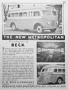 C.D. Beck & Co., Beck Bus, Sidney Manufacturing Co., Anderson Body Co., Pioneer Body Co. - CoachBuilt.com