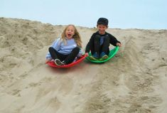 Sand Sledding: Winter Fun on the Sand Berms at Venice Beach | MommyPoppins - Things to do in Los Angeles with Kids