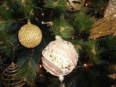 Árvore Gold (ouro e pérola)-detalhe