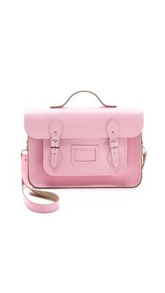 Pink Cambridge Satchel. I'm not a pink girl but I would make an exception for this bag