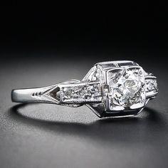 Art Deco White Gold and Diamond Ring