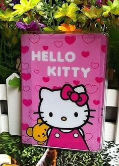 Hello kitty polka dots passport cover hello kitty pinterest cartoon hello kitty credit card holderpvc leather id card bagbusiness porte carte reheart