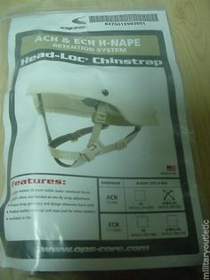 NEW OPS CORE ACH ECH HEAD-LOC H-NAPE CHINSTRAP RETENTION SYSTEM S/M/L/XL
