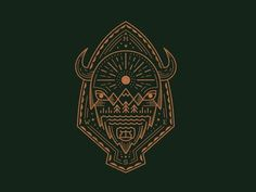 O Beautiful designed by Ross Bruggink. Connect with them on Dribbble; the global community for designers and creative professionals. Bison Tattoo, Native Drawings, Buffalo S, Buffalo Tattoo, Western Tattoos, Inspiration Artistique, Badge Design, Symbolic Tattoos, Mandala