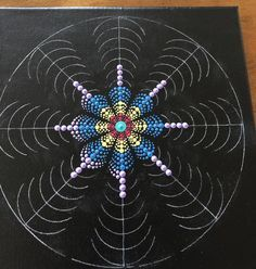 Dot Art Painting, Mandala Painting, Stencil Painting, Mandala Art, Mandala Rocks, Flower Mandala, Dots Design, Design Art, Lavender Paint
