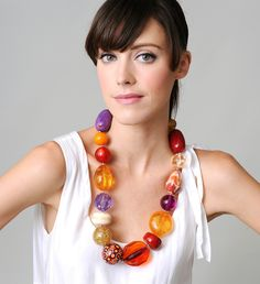 Bauble Necklace - lush giant beads, by Florian Ladstaetter