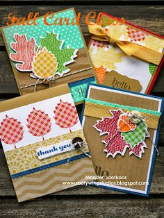 Fall Card Class, Stampin' Up!, Wonderfall and Autumn Accents