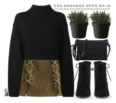 Black moon by mihreta-m on Polyvore featuring moda, DKNY and Muuto