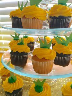 First Birthday Hawaiian Luau Pineapple Cupcakes
