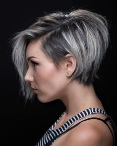 Short Hairstyles With Long Bangs Stunning Shorthairstyleswithlongbangsshortasymmetricalhaircut  Cute