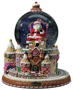 Christopher Radko Snow Globe, Santa & Sweets