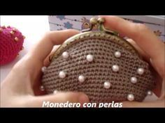 Monedero de ganchillo con perlas - YouTube