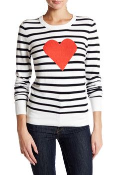 French Connection Heart Struck Long Sleeve Sweater