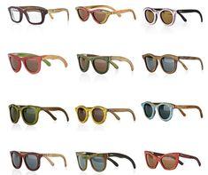 Óculos feitos de skates quebrados