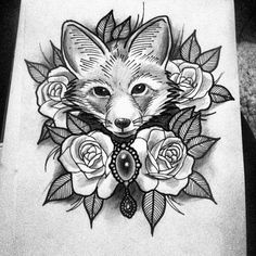 Foxes Fox tattoos and Fox illustration on Pinterest
