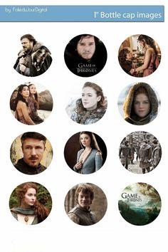 "Free Bottle Cap Images: Game of Thrones Free digital bottle cap images 1"" ..."