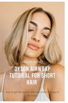 Easy Dyson Airwrap Tutorial for Short Hair. How to get a perfect blowout for short hair like you just left a salon using the dyson airwrap! #dyson #dysonairwrap #airwrap #shorthair #shorthairtutorial #tutorial #hairtutorial #blowout #easyblowout #volume #curl #easyhair #styling #style Hair Inspo, Hair Inspiration, Easy Curled Hairstyles, Hair Curling Tips, Perfect Blowout, Blowout Hair, How To Curl Short Hair, Short Hair Styles Easy, Hair Tutorials