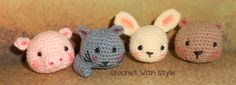 These are cute little Tumbles Crochet pattern. There is a tumbles, pig, kitty, bunny and bear.  Check these cute free patterns