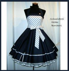 50er Jahre Kleid   Maritim  Petticoatkleid von Schneiderei Heike Borchers auf DaWanda.com