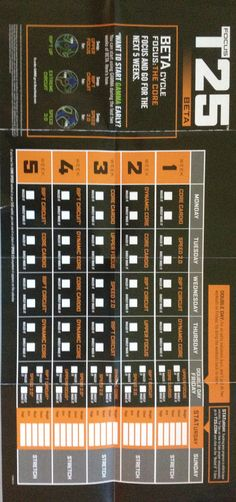 T25 Printable Workout Schedule | hope that these T25 Calendars will help you have a better ...