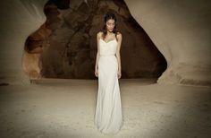 White slip wedding dress from Limor Rosen