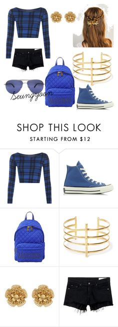 """""""Untitled #8"""" by son-naeun ❤ liked on Polyvore featuring WearAll, Converse, Moschino, BauXo, Miriam Haskell, rag & bone/JEAN, Persol, men's fashion and menswear"""