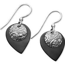 4b0332328 Jody Coyote - Black Drop Earrings Metal Clay Jewelry, Jewelry Box, Black  Diamond Earrings