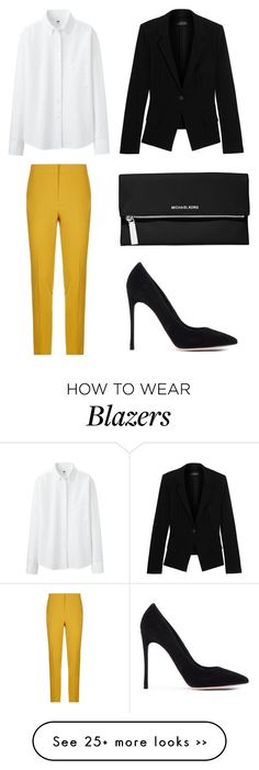 """""""Untitled #1868"""" by cece1101 on Polyvore featuring Pinko, Donna Karan, Gianvito Rossi, MICHAEL Michael Kors and Uniqlo"""