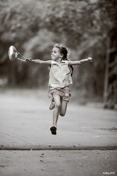 Be happy and energetic, just like a little girl. Let your inner little girl out more often. Your life could be so much more fun!
