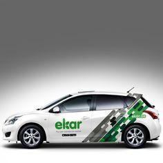 Carshare company needs iconic car wrap Vehicle Signage, Van Wrap, Custom Cars, Icon Design, Branding, Trucks, Invitation Templates, Packaging, Autos