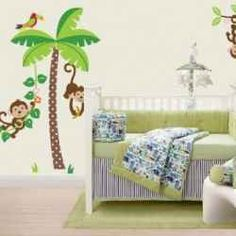Getting the baby's room ready is a lot easier with nursery wall decals. And a monkey theme is one of my favorites.    Wall decals are so simple...
