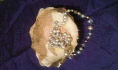 Vintage Crystal pearl 48 necklace. Crystals are by paperwerks #etsy $30.00