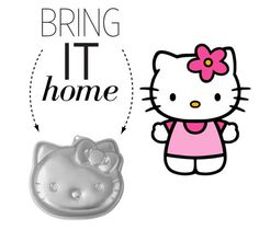 """""""Bring It Home: Hello Kitty Cake Pan"""" by polyvore-editorial ❤ liked on Polyvore featuring interior, interiors, interior design, home, home decor, interior decorating and bringithome"""