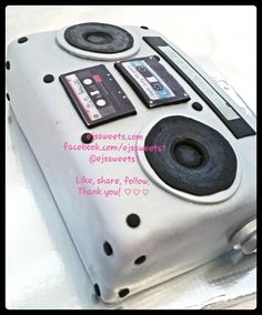 I can't live without my radio! In the beginning there was just a knife and cake.. Then came cream cheese frosting and fondant. And lastly came the details. A custom throwback boombox, red velvet cake, cream cheese frosting, silver fondant, and fondant detailing.  #ejssweets1 #ejssweets #customcakes #redvelvetcake #cakesinmcdonough #cakelady #creamcheesefrosting #fondant #radio #radiocake#boombox #boomboxcake #llcoolj #cassettetspe #fondant #silvercake #silverfondant