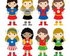 Boys Superhero Costumes Clipart 1 Boy Superheroes by LittleMoss