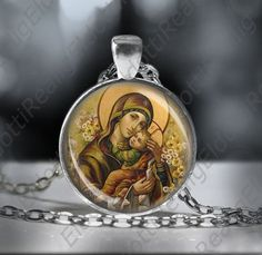 Theotokos Madonna Mother Mary holding Baby Jesus by ElDotti
