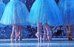The Snowflakes dance in the Snow Scene of The Nutcracker by The Richmond Ballet