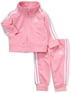adidas Newborn Girls) Two-Piece Track Jacket & Jogger Pants Set Baby Outfits Newborn, Baby Boy Outfits, Newborn Girls, Kids Outfits Girls, Cute Outfits For Kids, Baby Girl Tracksuits, Baby Girl Fashion, Kids Fashion, Cute Baby Clothes