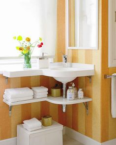 tiny Bathroom Decor 31 Creative Storage Idea For A Small Bathroom Organization Modern Bathroom Design, Simple Bathroom, Bathroom Ideas, Bathroom Designs, Modern Sink, Bathroom Mirrors, Modern Design, Bathroom Cabinets, Bathroom Furniture
