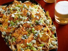 Buffalo Chicken Nachos....Its whats for dinner!!