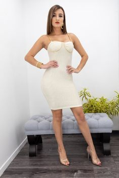 Model wearing size Small Model is - Runs true to size Polyester Imported Hand Wash Cold Separately Do Not Bleach Hang Dry Tight Dresses, Nice Dresses, Mini Club Dresses, Beauty Full Girl, Bodycon Fashion, Hot Dress, 34c, Mode Style, Feminine Style