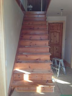 My House: Staircase Before & After — CAROL REED INTERIOR DESIGN Black Staircase, Staircase Runner, House Staircase, Staircase Railings, Modern Staircase, Staircase Design, Stairways, Old Closet Doors, Carol Reed