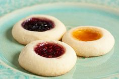 Jam Thumbprint Cookies – perfect little morsels of soft buttery cookie filled with a variety of sweet jams. Always a favourite!