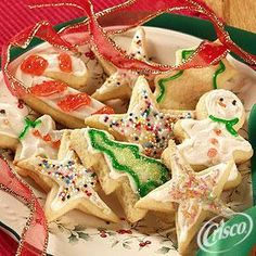 Ultimate Sugar Cookies from Crisco®My go-to recipe for red, white and blue star shaped 4th of July cookies. They go great with home cranked ice cream.