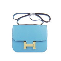 2de28dbfa0bd Attractive Hermes Constance Bag Oxhide Leather H017 Light Blue Gold  Hardware - Dobestbuy Hermes Constance Bag