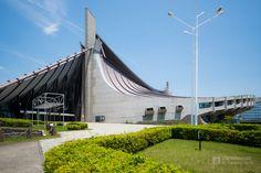 Yoyogi National Gymnasium 1 (国立代々木競技場 第一体育館). /  Architect : Kenzo Tange (設計:丹下健三).