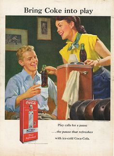 Large Antique 1951 Coca-Cola Coke Advertising Magazine Print Ad - Approx 11 x 14 - Suitable for framing